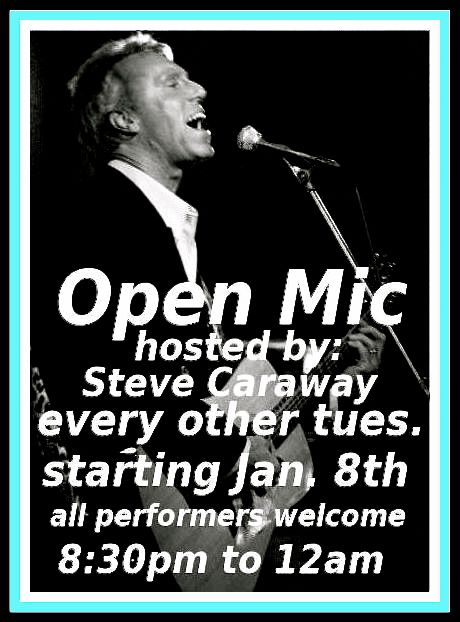 steve open mic dog bar tues
