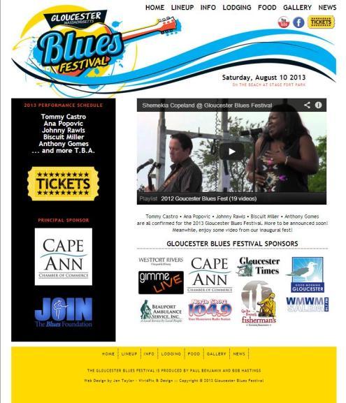 blues page