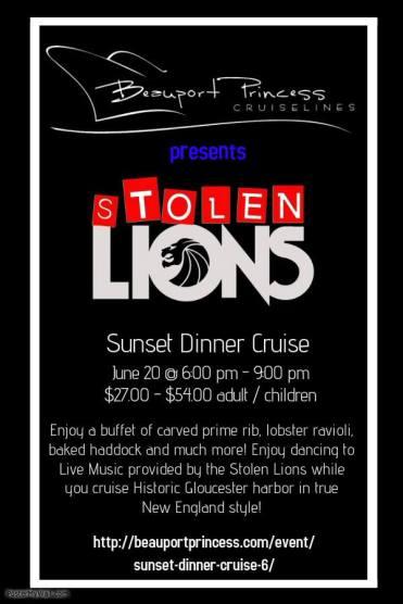 stolen lions beauport cruise