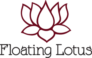 floating lotus logo